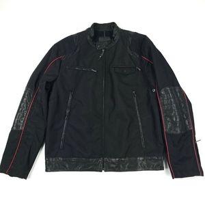 Tumi Ducati Leather Trim Nylon Moto Jacket Sz L